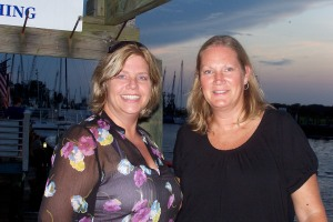 Tracy Himes and Melinda Anderson at Shem Creek, SC