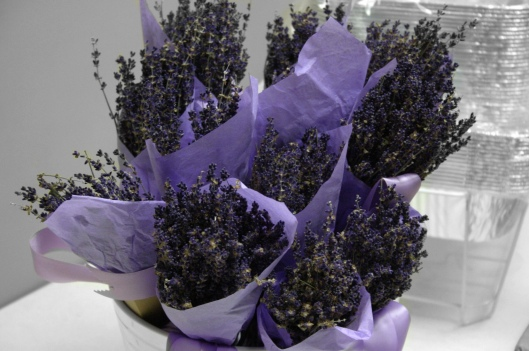 Dried Lavender Wedding Bouquets