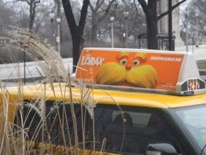 Lorax ad on taxi