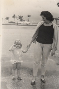 Me and Mom in Fort Lauderdale, 1964