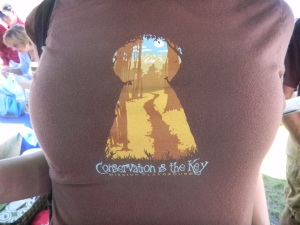 Conservation is the Key t-shirt